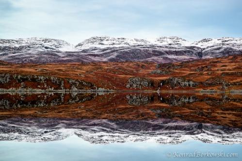 Winter Reflections at Loch Tarbert, Isle of Jura, Scotland