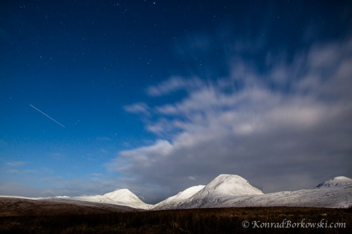 Snow Covered and Moonlit Paps of Jura, Isle of Jura