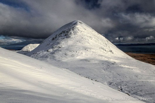 Snow Covered Beinn Shiantaidh, Paps of Jura, Isle of Jura