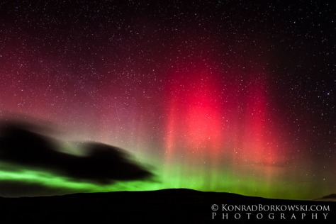 Northern Lights on Isle of Jura, Scotland.
