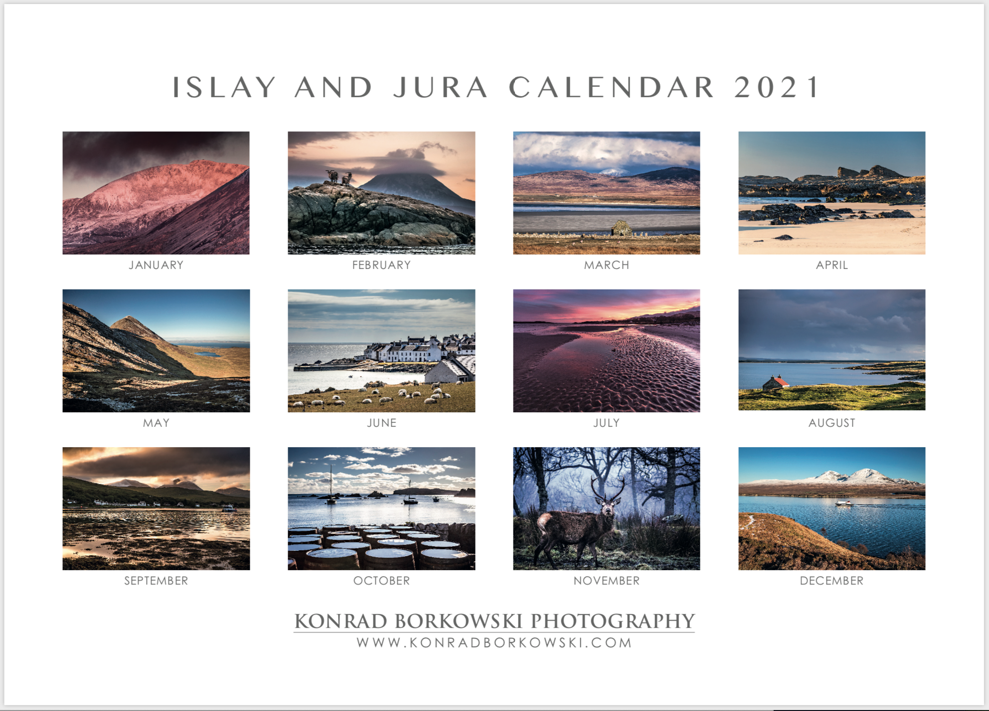 LIMITED EDITION ISLAY AND JURA 2021 CALENDAR AVAILABLE FOR